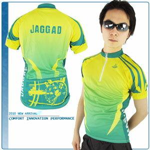 JAGGAD 檸檬綠短袖車衣.自行車.腳踏車.單車.小折.騎行服
