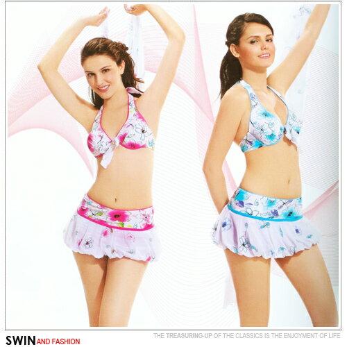 『泳裝出清』天使花樣兩件式泳裝.運動 - 限時優惠好康折扣