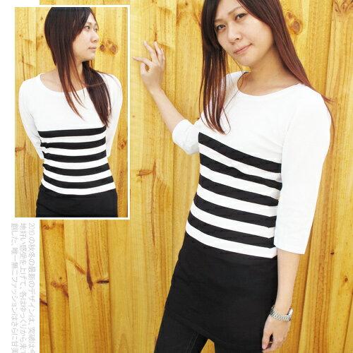 韓國精品針織條紋毛衣.流行女裝.針織衫 - 限時優惠好康折扣