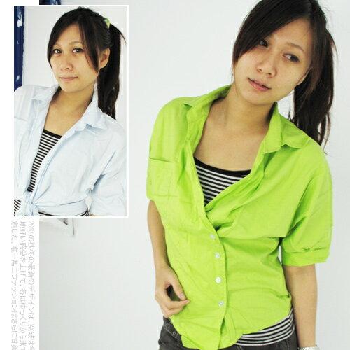 韓版OL斜扣設計特色襯衫