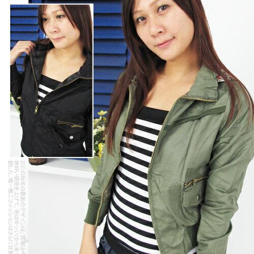 韓版時尚連帽豹紋內裡小外套