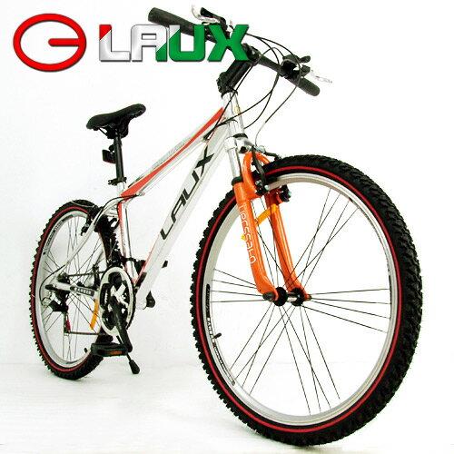 【LAUX 雷克斯】概念 26吋18速鋁合金前避震登山車及自行車.腳踏車.卡打車.單車(95%組裝完成) - 限時優惠好康折扣