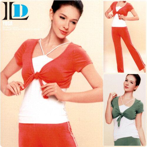 【DENLUS】夏日色彩三件式瑜珈有氧運動套裝(DL248上衣+DL851褲子)瑜珈服.運動服