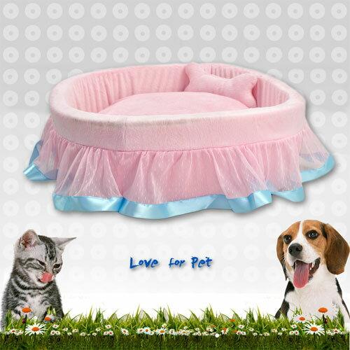 點點蕾絲花邊絨毛寵物睡床 (寵物窩.寵物床.便宜.推薦.哪裡買) - 限時優惠好康折扣