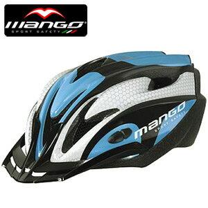 【MANGO-103 義大利】自行車安全帽(藍白).腳踏車.單車.小折.頭盔