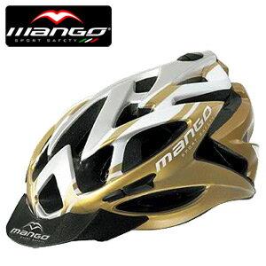 【MANGO-127 義大利】自行車安全帽(金白).腳踏車.單車.小折.頭盔