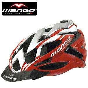 【MANGO-129 義大利】自行車安全帽(紅白).腳踏車.單車.小折.頭盔