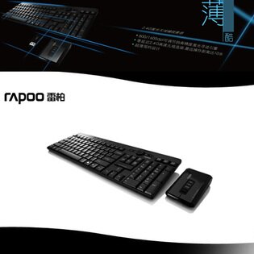WINTEK 2.4G無線超新薄雷射鍵鼠組 黑色.電腦周邊.滑鼠P040-KBWKM8800B