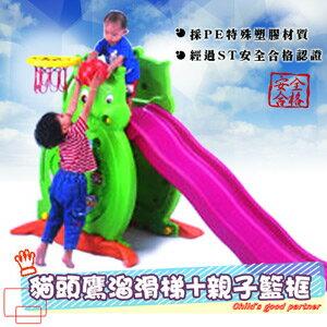 貓頭鷹滑梯(長款)(造形溜滑梯.兒童遊樂設施.戶外休閒.親子互動.兒童用品.推薦哪裡買)P072-SL04L