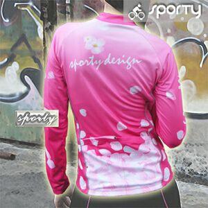 【sporty】女用粉柔芯全彩長袖車衣.自行車.腳踏車.單車.小折.騎行服 - 限時優惠好康折扣
