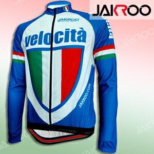 JAKROO捷酷 義大利藍色款長袖車衣.自行車.腳踏車.單車.小折.騎行服C125~090