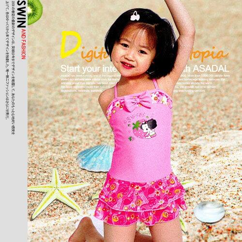 『泳裝出清』可樂女孩蝴蝶結蕾絲女童裝.泳裝.運動 - 限時優惠好康折扣