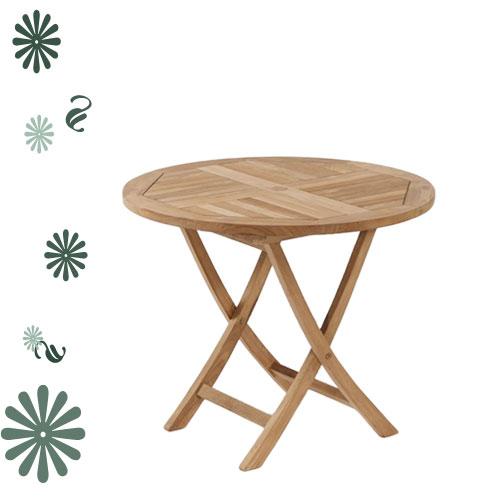柚木折桌*80cm.庭院家具.木桌 - 限時優惠好康折扣