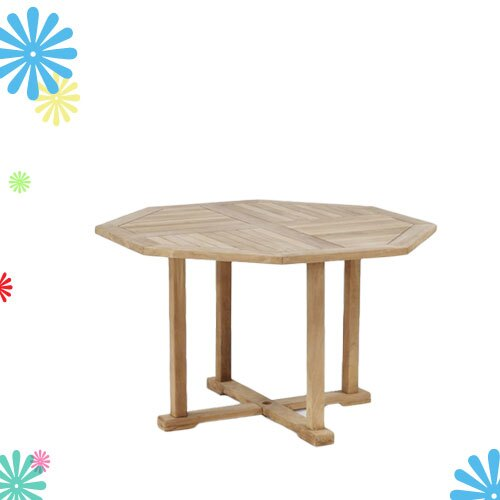 柚木八角桌*120cm.庭院家具.木桌 - 限時優惠好康折扣