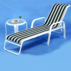 條紋紗網躺椅.庭院家具 - 限時優惠好康折扣