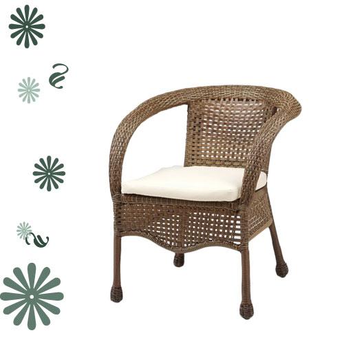 造型籐編沙發椅.客廳家具.藤椅