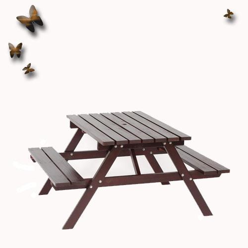 戶外休閒野餐桌/啤酒桌*4尺 (中國木).庭院家具