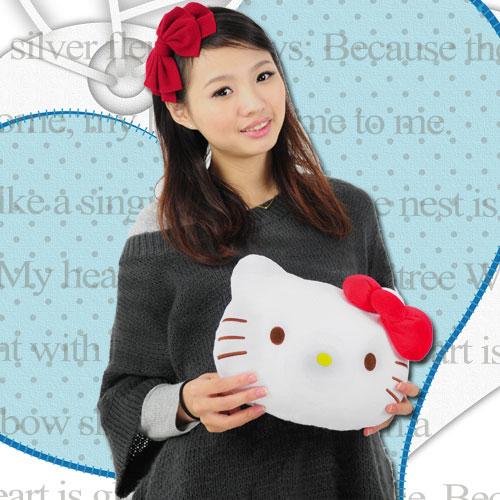 凱蒂貓造型抱枕(kitty靠枕.凱蒂貓抱枕玩偶.kitty抱枕娃娃.車枕頭.絨毛玩具.便宜)