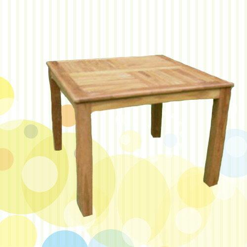 100cm方桌(木桌子.原木桌.庭院傢俱.便宜) - 限時優惠好康折扣