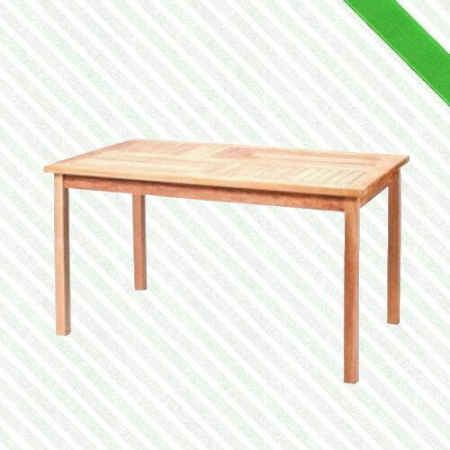 140cm柚木長方桌(木桌子.原木桌.庭院桌.庭院傢俱.便宜) - 限時優惠好康折扣