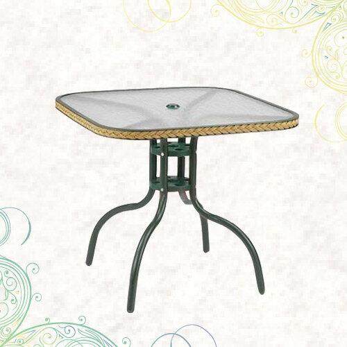 80cm編籐方桌(公園桌.庭院桌.庭園桌.休閒玻璃桌.庭院傢俱.便宜) - 限時優惠好康折扣
