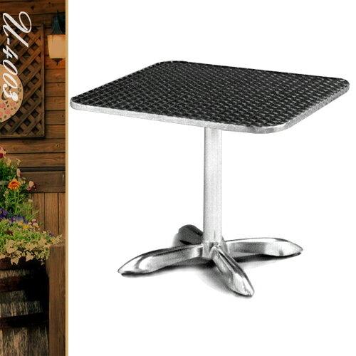 80CM鋁製正方桌(鋁包邊)方型茶几.置物桌.洽談桌.餐桌子.休閒桌.庭園桌.傢俱家具傢具特賣會 - 限時優惠好康折扣