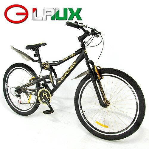 ~LAUX 雷克斯~幻影 26吋18速避震自行車.腳踏車.卡打車.單車.登山車 95%組裝