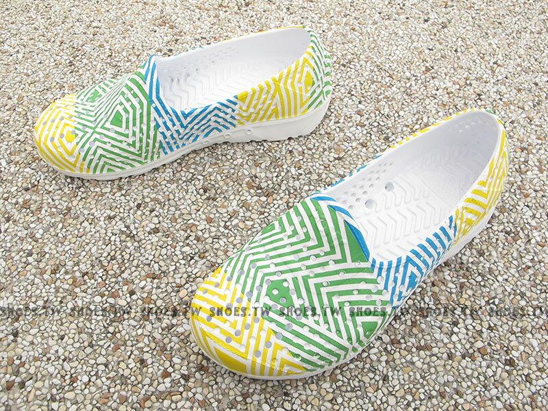 《下殺5折》Shoestw【62K1SA62YW】PONY TROPIC 水鞋 童鞋 軟Q 防水 洞洞鞋 三色冰 親子鞋 1