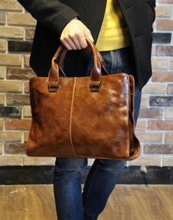 FINDSENSEZ1韓國時尚潮男皮質休閒橫款多功能皮包手提包單肩包側背包電腦公文包