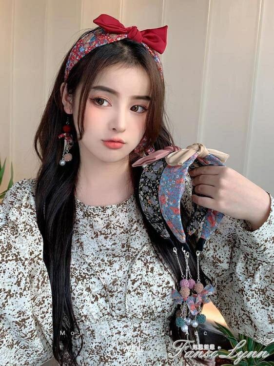 髮箍女寬邊大蝴蝶結紅色新年髮卡網紅2020年新款髮飾復古法式頭箍