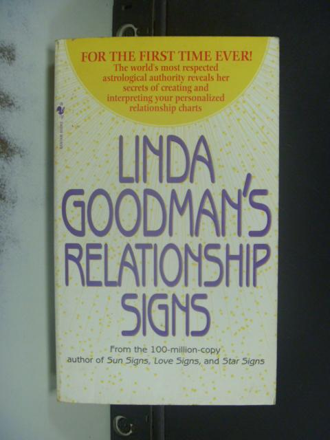【書寶二手書T3/原文小說_NKC】Linda Goodman's Relationship Signs