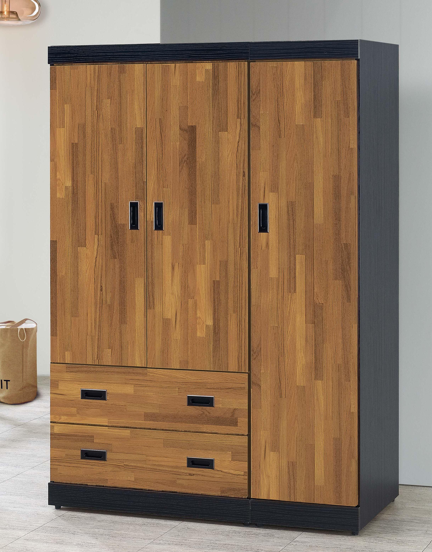 簡單家具,SB118-4 積層木功能4X6尺衣櫃/衣櫥,大台北都會區免運費