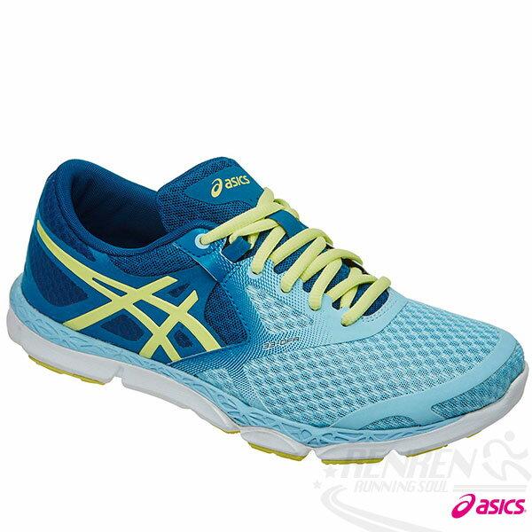 ASICS亞瑟士 女慢跑鞋 33-DFA (藍*鵝黃) 2015新款 NATURAL系列