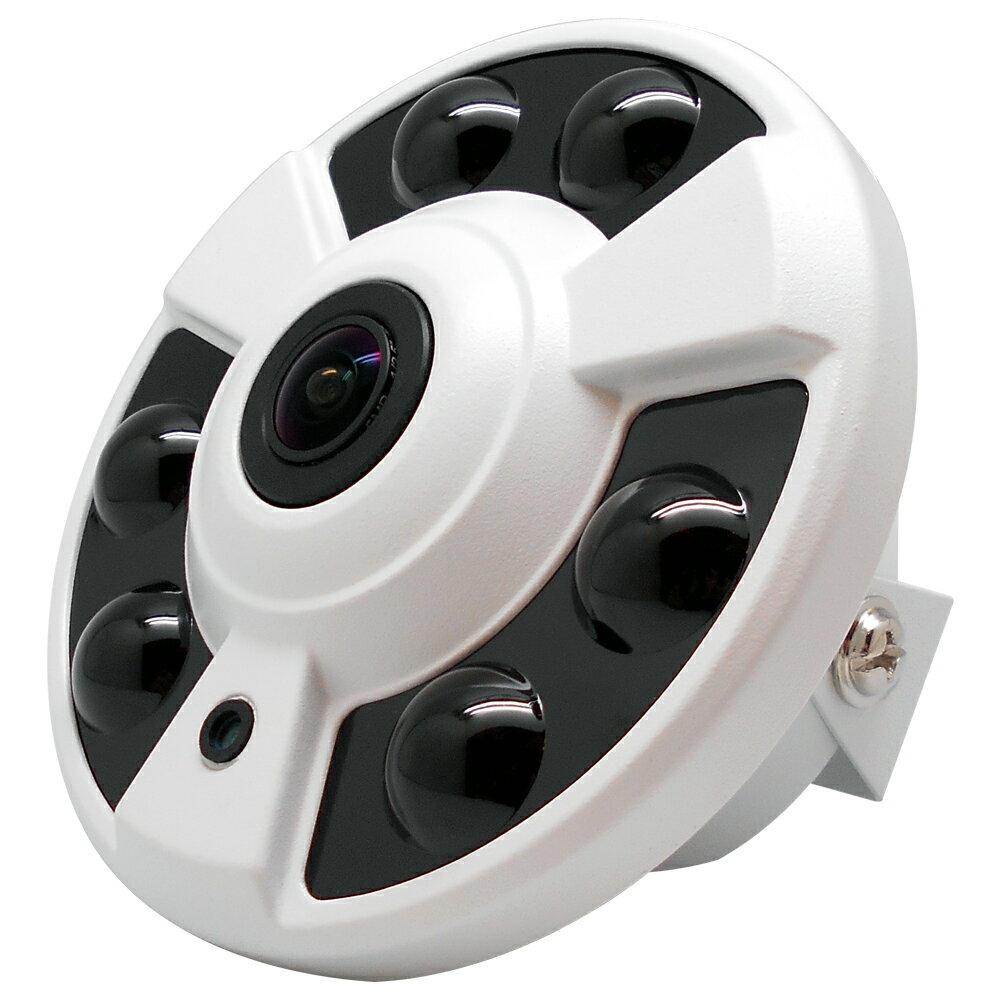 【CHICHIAU】四合一 AHD/TVI/CVI/CVBS 1080P SONY 200萬畫素超廣角360度環景6陣列燈紅外線攝影機