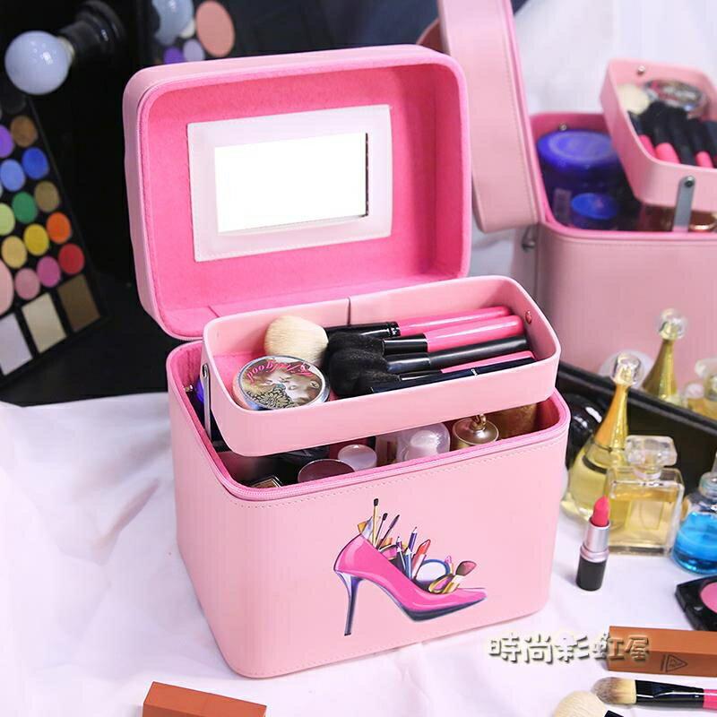 化妝箱 化妝包 女便攜新款大容量手提小號收納包網紅同款化妝盒