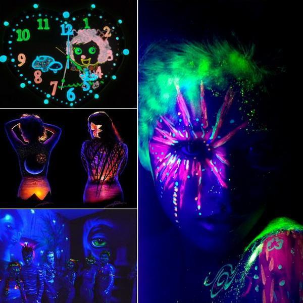UV Glow Neon Body Paint Pigment 20ml and Fluorescent Super Bright 3