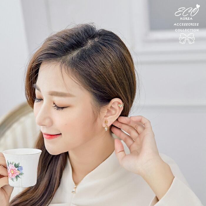 三線,鑽,夾式耳環,耳骨夾,無耳洞耳環,韓製,韓國,耳環
