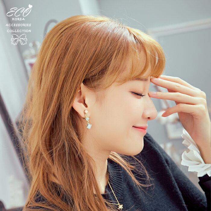 小方塊夾式耳環,夾式耳環,無耳洞耳環,螺旋夾耳環