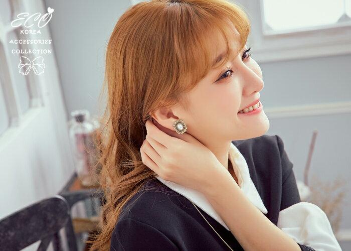 復古,珍珠,相框,夾式耳環,無耳洞耳環,韓製,韓國,耳環