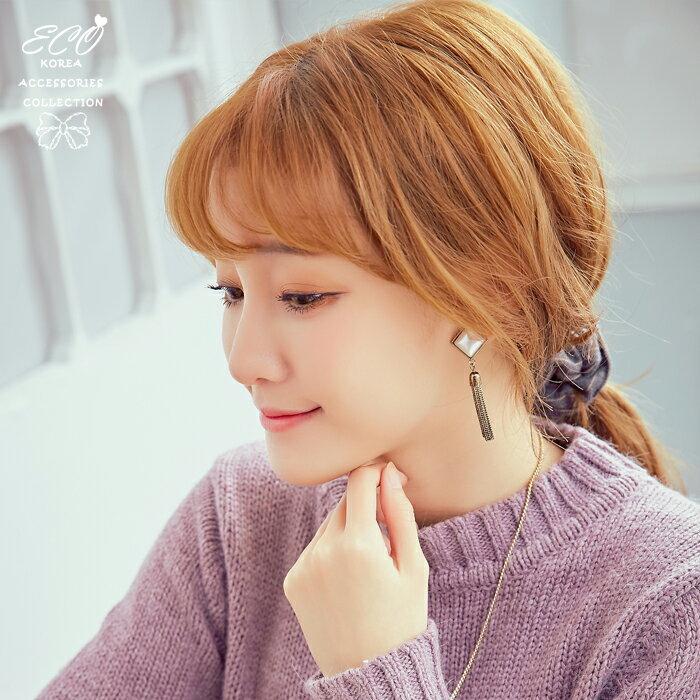 菱形,復古,垂墜,古銅,夾式耳環,無耳洞耳環,韓製,韓國,耳環