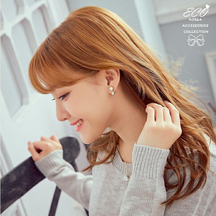 方塊夾式耳環,夾式耳環,無耳洞耳環,螺旋夾耳環