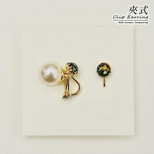 ^(  ^)ECO安珂.慕夏璀璨結晶 夾式耳環^(3款^)~2~1723~