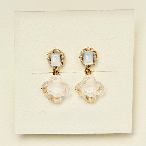 (預購)ECO安珂.浪漫微甜玫瑰 夾式耳環(螺旋夾)/針式耳環【2-1761】