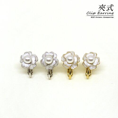 ^( ^)^( ^)ECO安珂.古典玫瑰花園 夾式耳環^(螺旋夾 2色^)~2~1768~