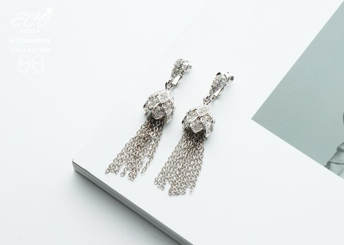 婚宴夾式耳環,夾式耳環,無耳洞耳環,韓製,韓國,耳環