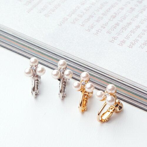 ECO安珂.珍珠港 夾式耳環(3色)【2-1836】