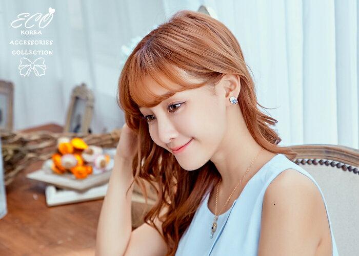 花朵夾式耳環,無耳洞耳環,韓製,韓國,耳環