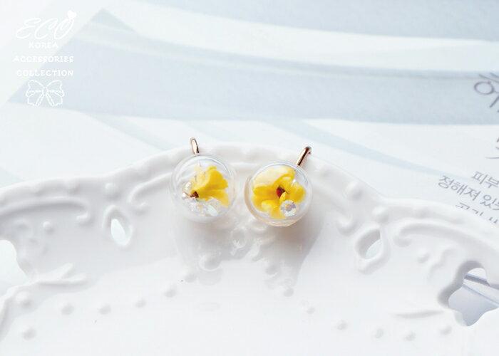大力丸夾式耳環,夾式耳環,無耳洞耳環,韓製,韓國,耳環