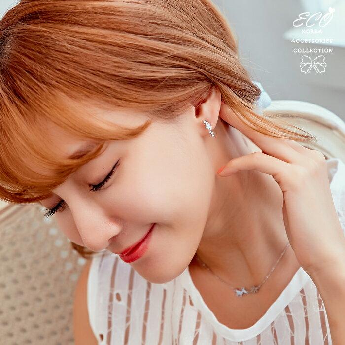 星星耳環,無耳洞耳環,夾式耳環,耳夾,韓國耳環,矽膠夾耳環,矽膠耳夾,貼耳耳環,小耳環,鑲鑽耳環