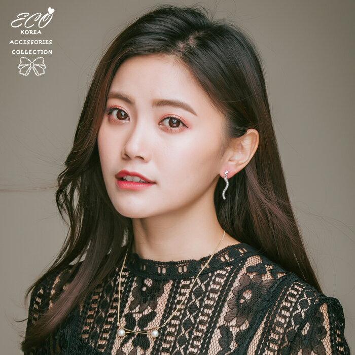 珍珠,婚宴夾式耳環,伴娘夾式耳環,垂墜夾式耳環,無耳洞耳環,韓製,韓國,耳環